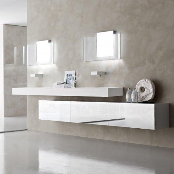 Moderno cuarto de baño pintura marmoleada
