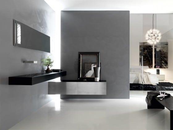 Moderno cuarto de baño negro