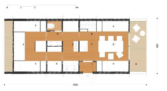 3 nuevos dise os de casas y caba as peque as modulares for Planos de oficinas pequenas
