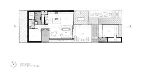 Plano de casa de dos pisos (primer nivel )