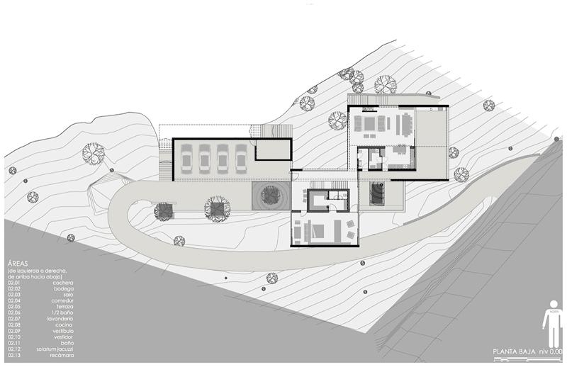 Dise O De Casa Moderna En La Monta A Construida En Hormig N