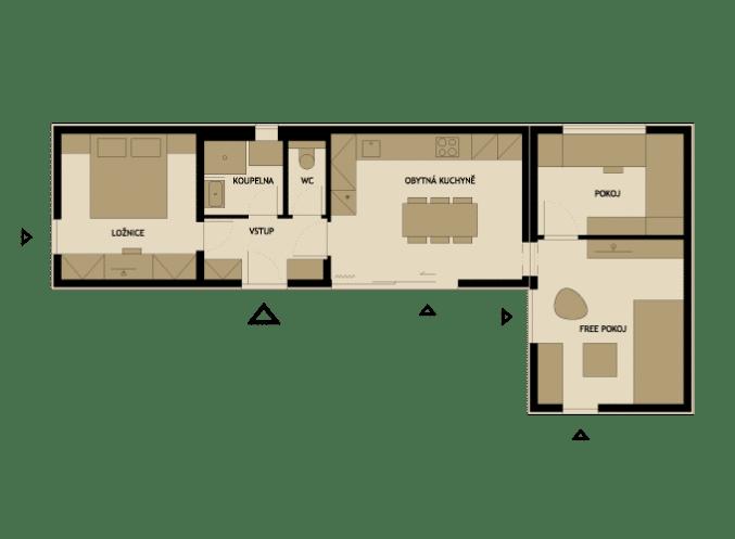 3 modelos de planos de casas peque as de madera for Casas en ele planos