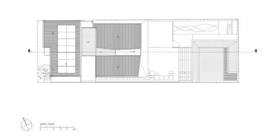 Plano de techo de casa  dos pisos