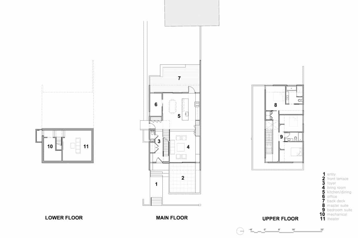 planos de casa de dos pisos en terreno pequeño | construye hogar