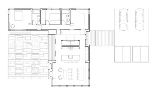 planos de casas pequenas en forma de l