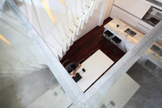 Vista superior de la sala apartamento