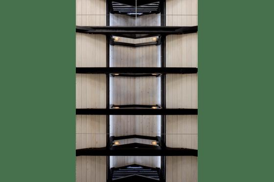 Diseño de cochera, vista a estructura del techo