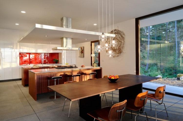Dise o de casa de campo econ mica y moderna construcci n - Cocina comedor en l ...