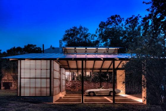 Diseño de garage de madera