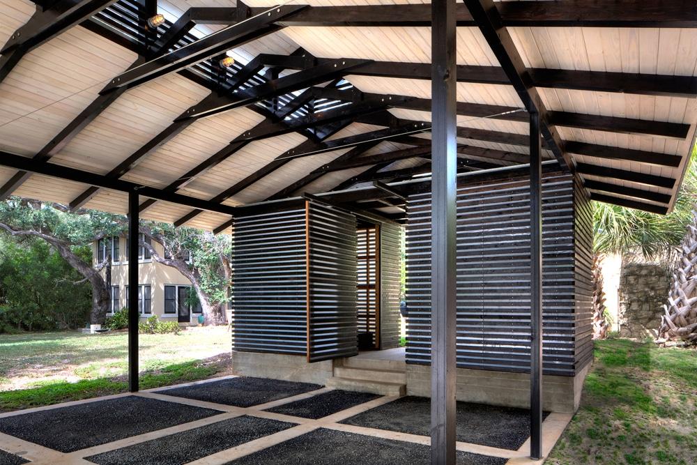 Diseño De Garage Cochera En Exteriores De Casa