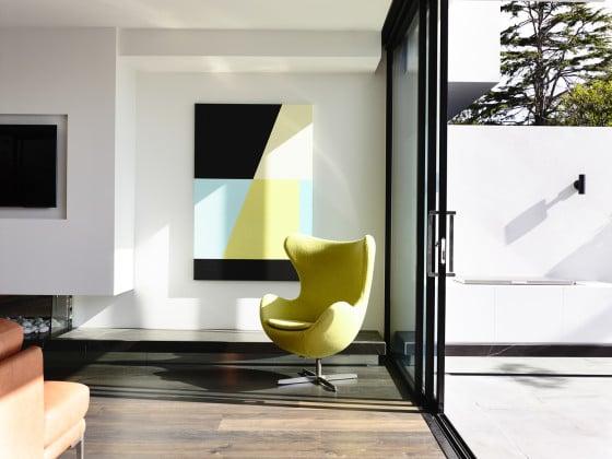Diseño de mueble color limón