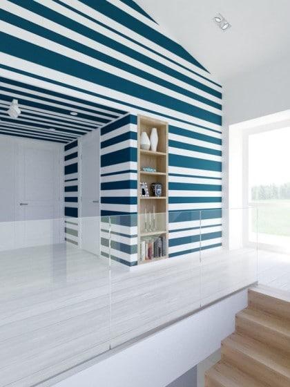 Diseño de interiores con pintura en paredes
