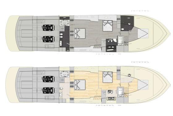 Diseño de interiores de barco