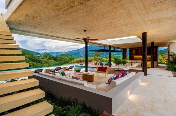 Planos de casa de campo de un piso moderno dise o for Disenos techos minimalistas