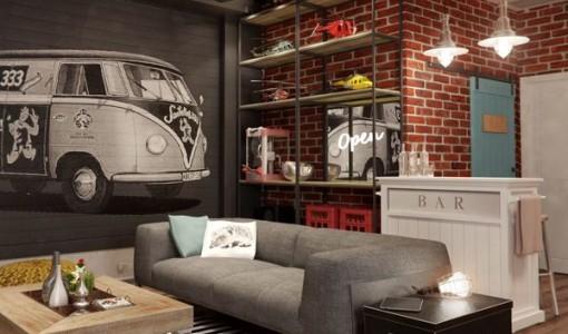 Decoraci n construye hogar for Sala de estar juvenil