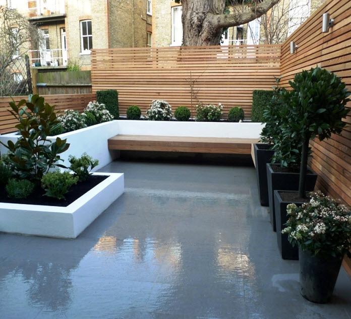 Garden Trees Wooden Outdoor Bech Rooftop Garden Garden: 10 Hermosos Diseños De Jardín En El Techo De La Casa