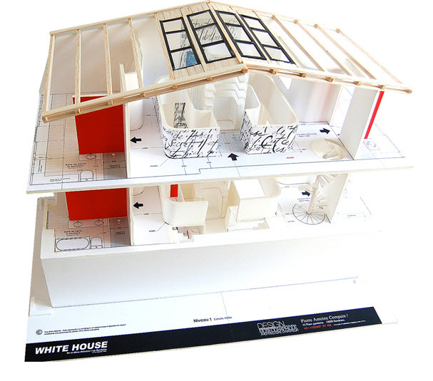 Dise o de interiores de casa peque a moderna iluminaci n for Imagenes de techos modernos