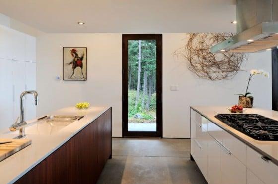Diseño de pequeña cocina de casa de campo