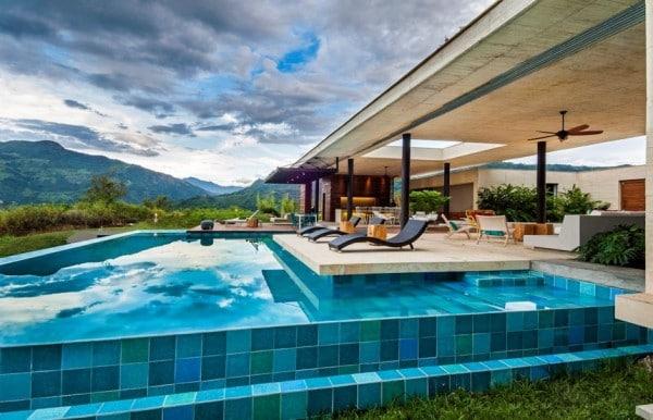 Planos de casa de campo de un piso moderno dise o for Casas de madera con piscina