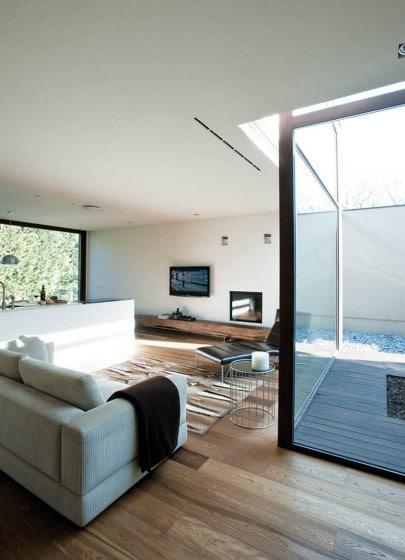 Diseño de sala con cerco perimétrico