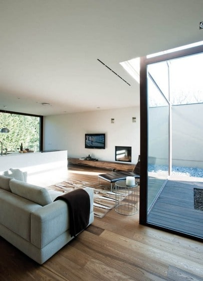 Planos de casa peque a de un piso con cerco perim trico alto for Cerco mobile sala