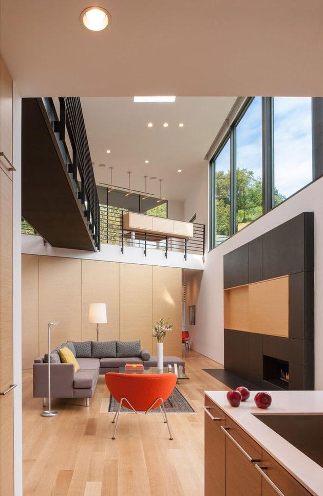 Planos De Casa En Terreno Triangular Fachada E Interiores