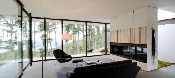 Diseño de sala pequeña y moderna sala de campo