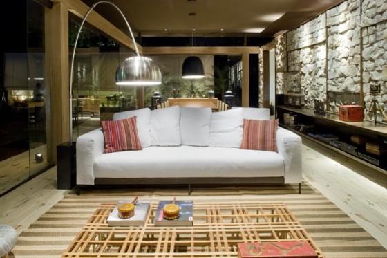Diseño de sofa de casa pequeña