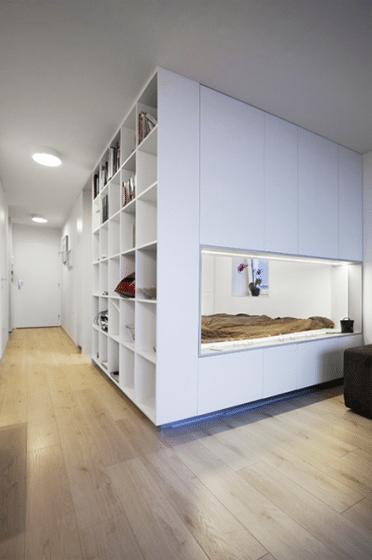 Diseño de módulo de domitorio de un  pequeño apartamento