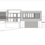 Plano de elevación de casa dos pisos nor este
