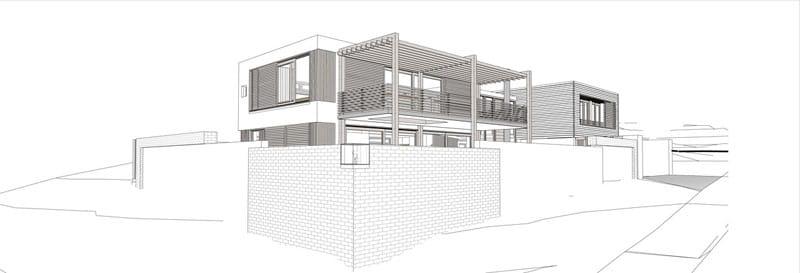 Planos de casa de dos pisos construida en terreno cuadrado for Planos y fachadas de casas modernas de una planta