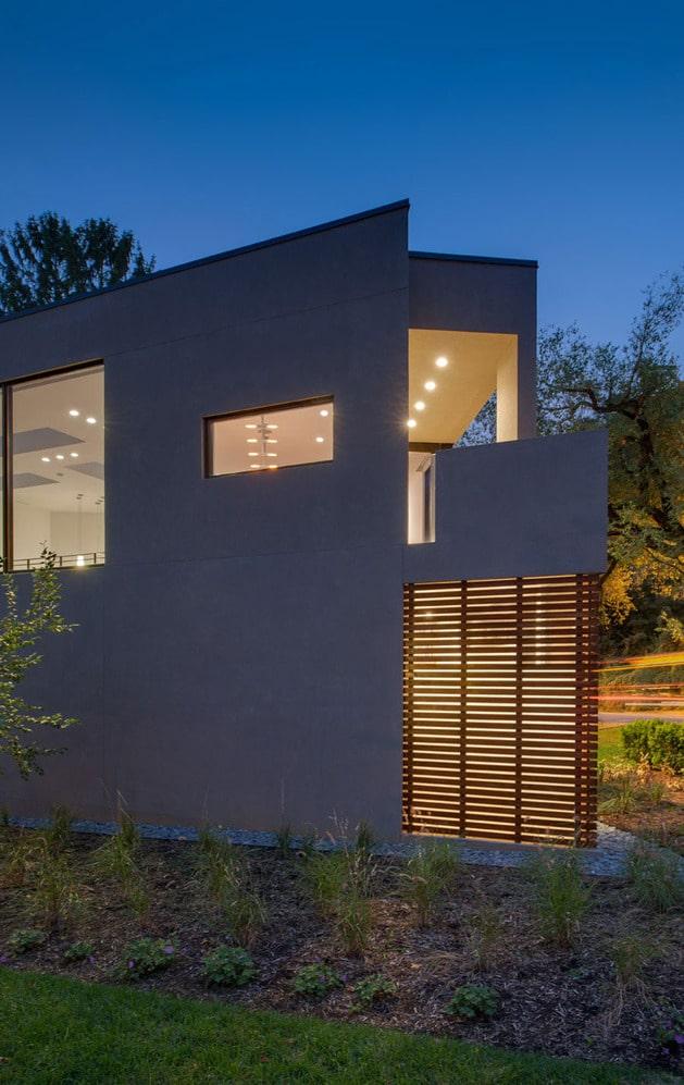 Planos de casa en terreno triangular fachada e interiores for Como hacer una fachada de casa moderna