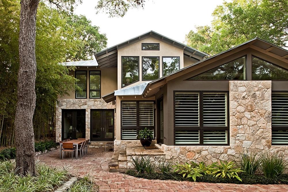Fachada de casa r stica donde incluimos dise o interior for Casa moderna y rustica