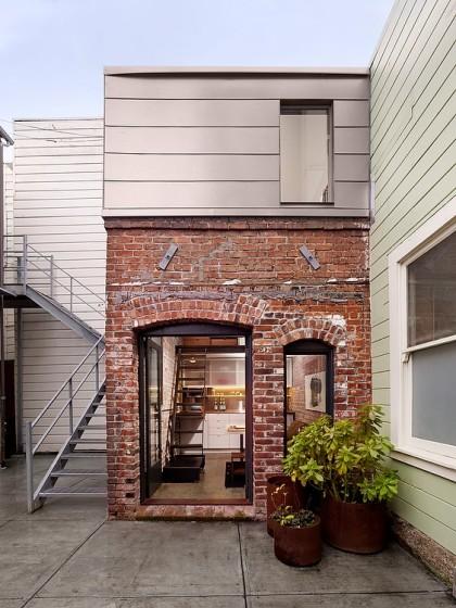 Fachada de pequeña casa