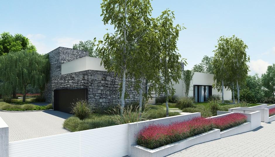 Fachada de casa moderna de un piso incluye dise o interior for Fachada de casa moderna de un piso