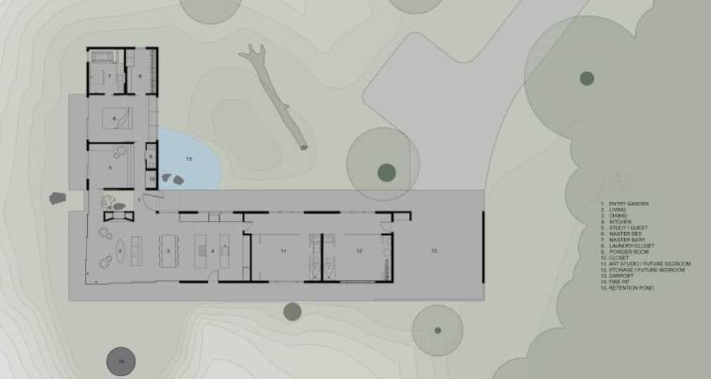 Dise o de casa de campo econ mica y moderna construcci n for Casas en ele planos