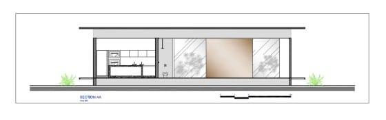 Plano de sección casa pequeña AA