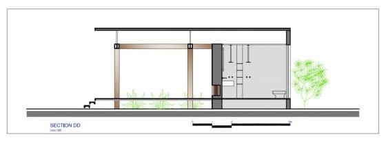 Plano de sección de casa pequeña DD