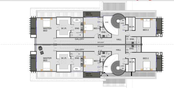 Plano de casa segundo piso dividida en dos