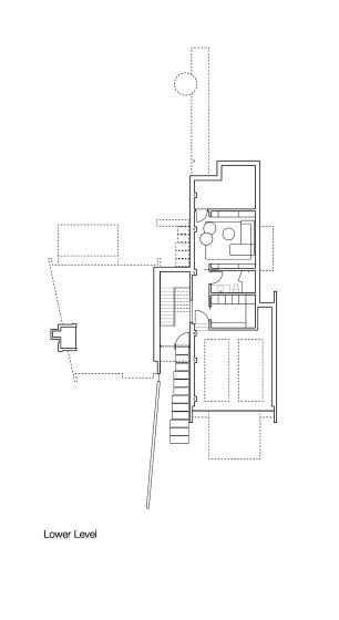 Plano de sotano de casa dividida en dos