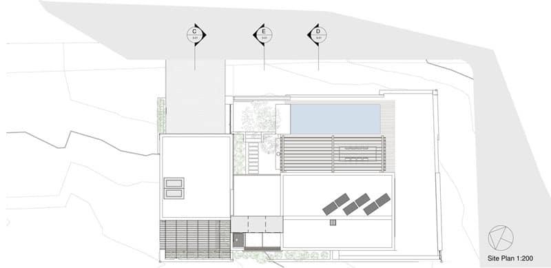 Planos de casa de dos pisos construida en terreno cuadrado - Como se construye una casa ...