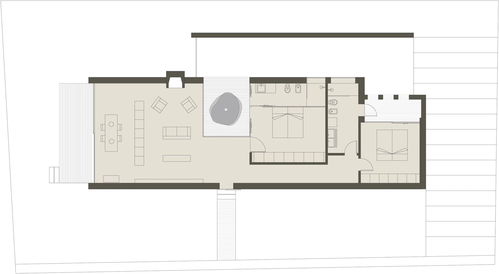 Planos de casa peque a de un piso con cerco perim trico for Techos planos para casas