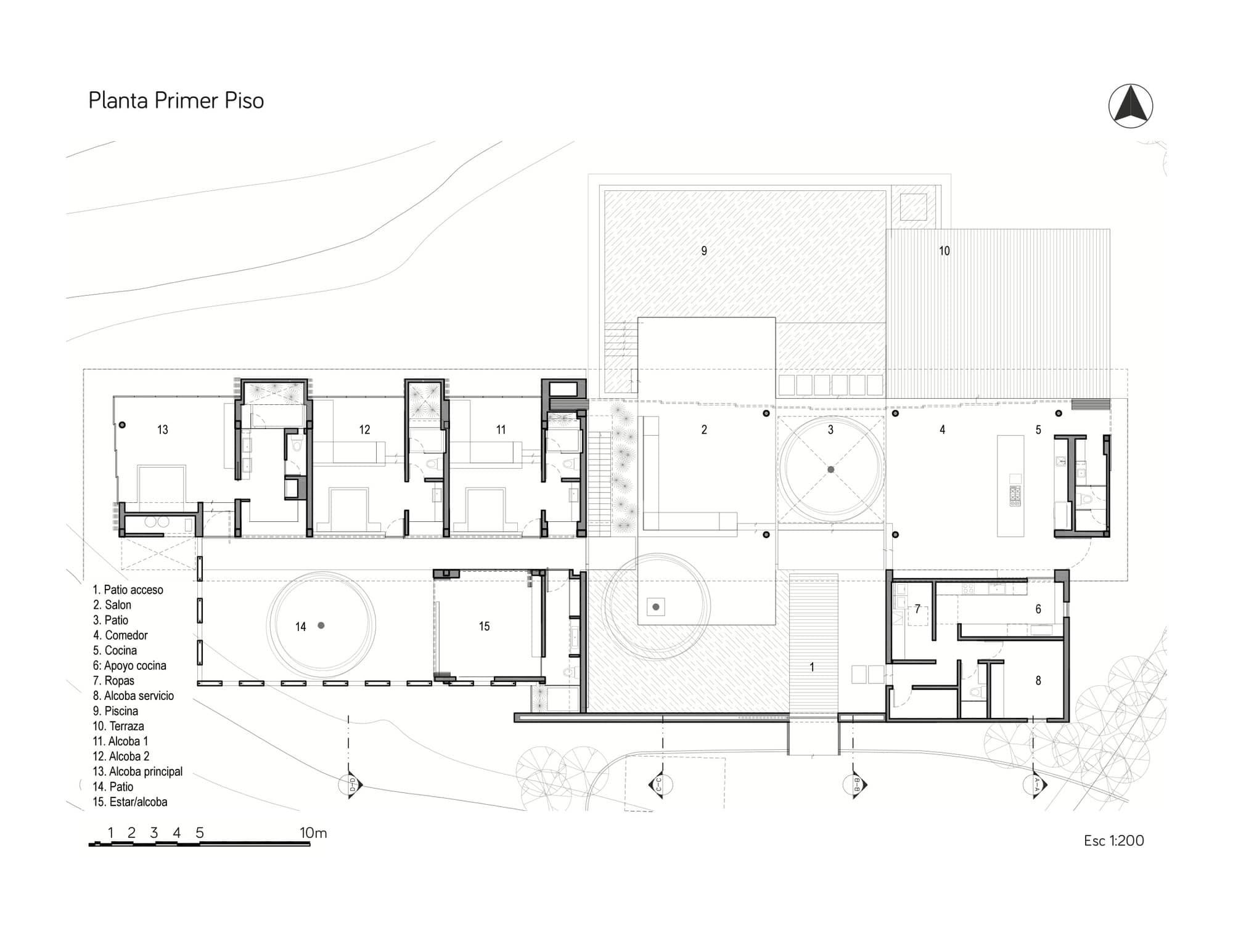 Planos de casa de campo de un piso moderno dise o for Diseno de planos