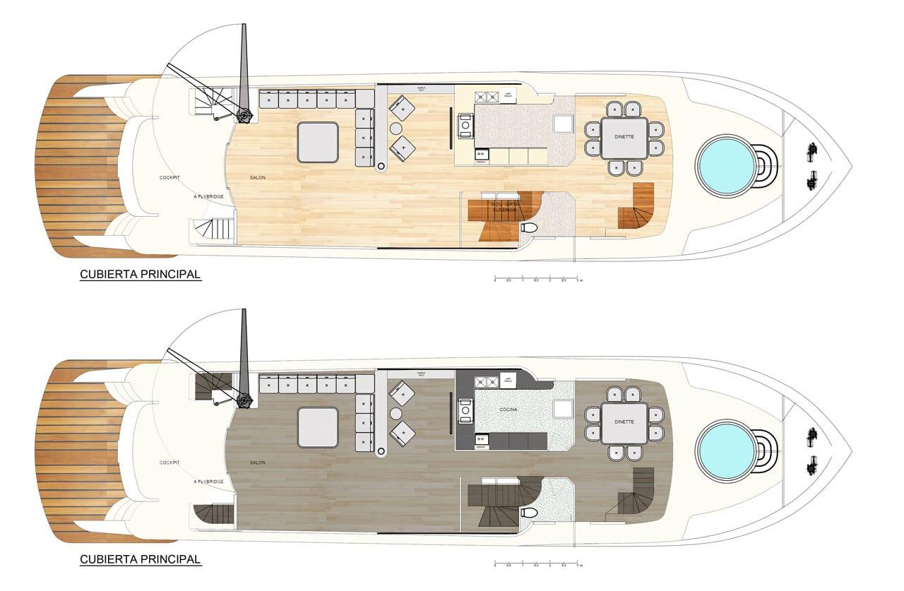 Dise o de planos de distribuci n de un moderno barco for Diseno de planos