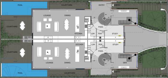 Planos dos casas en una