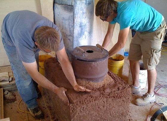 Construcción de estufa cohete