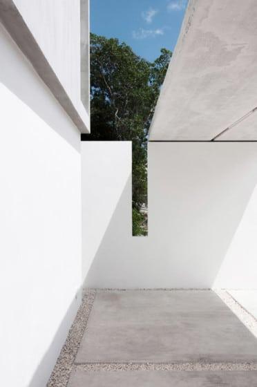 Detalles constructivos minimalistas de pared de cerco