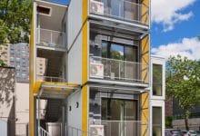 Photo of Diseño de casas modulares que pueden apilarse en varios pisos, moderna y practica construcción