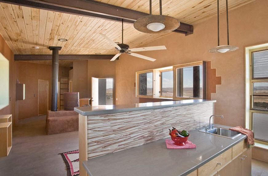 Dise o de casa peque a reciclada materiales construcci n - Material de cocina ...