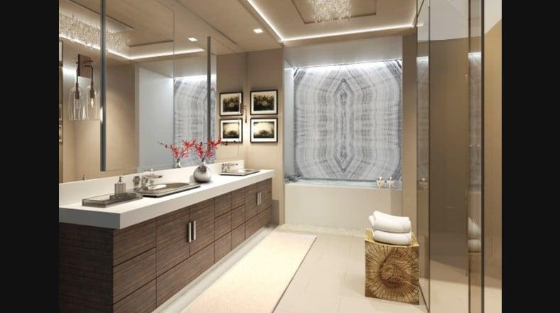 Dise o de interiores de apartamento de lujo for Espejos grandes para cuartos